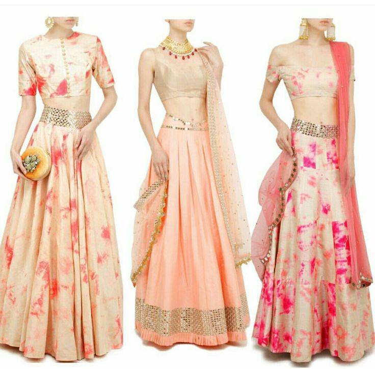 Silk tie-dyeing lehenga #pink #cream #lehenga #ethnicwear