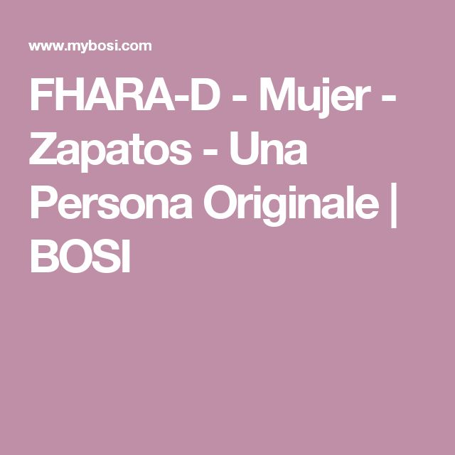 FHARA-D - Mujer - Zapatos - Una Persona Originale   BOSI