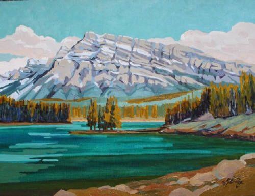 """WJ Bradley TWO JACK, SUMMER / Canada House Gallery - oil, board 12"""" x 16"""""""