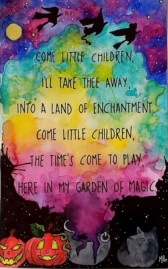 PRINT Illustrated Watercolor Quote Hocus Pocus wall by MaggieBodle