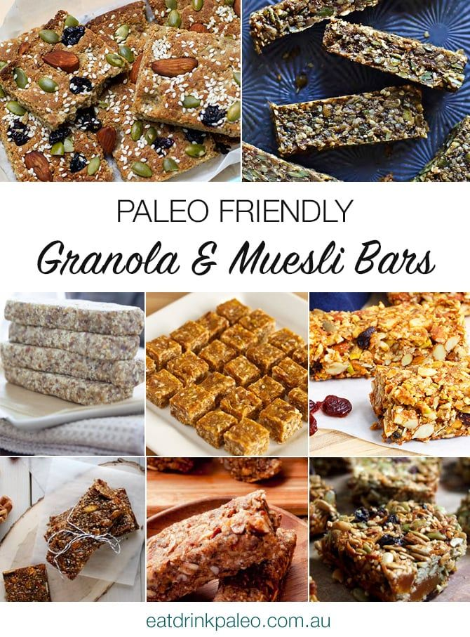 Best Paleo Granola, Muesli and Lara Bars - nut free, low fructose and protein rich ideas included.