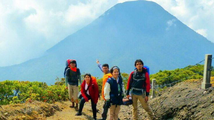 At the top of Gede Mountain