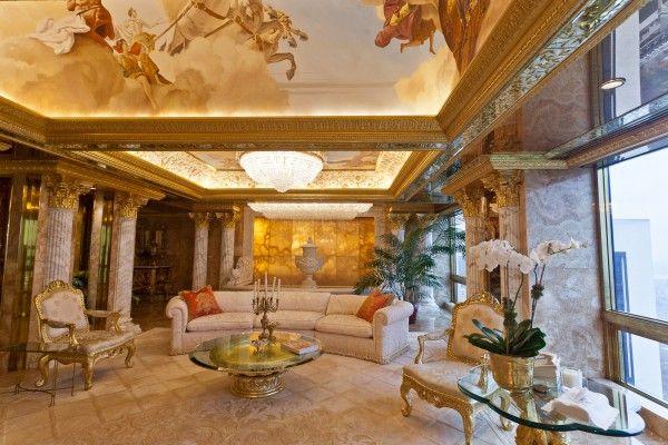 Peek inside Melania Trump's penthouse! This is just their sitting room!
