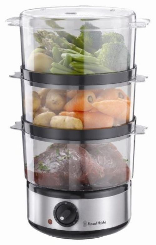 electric food steamer vegetable 7 lit mini meat egg cooker rice fish cook 3 tier