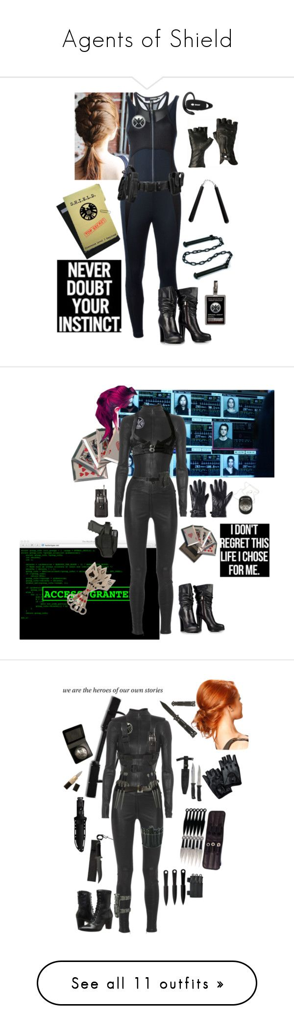 """""""Agents of Shield"""" by capfan2014 ❤ liked on Polyvore featuring DKNY, Merona, S.W.O.R.D., Fleet Ilya, Cold Steel, Johnston & Murphy, American Eagle Outfitters, Hakaan, AllSaints and Jitrois"""
