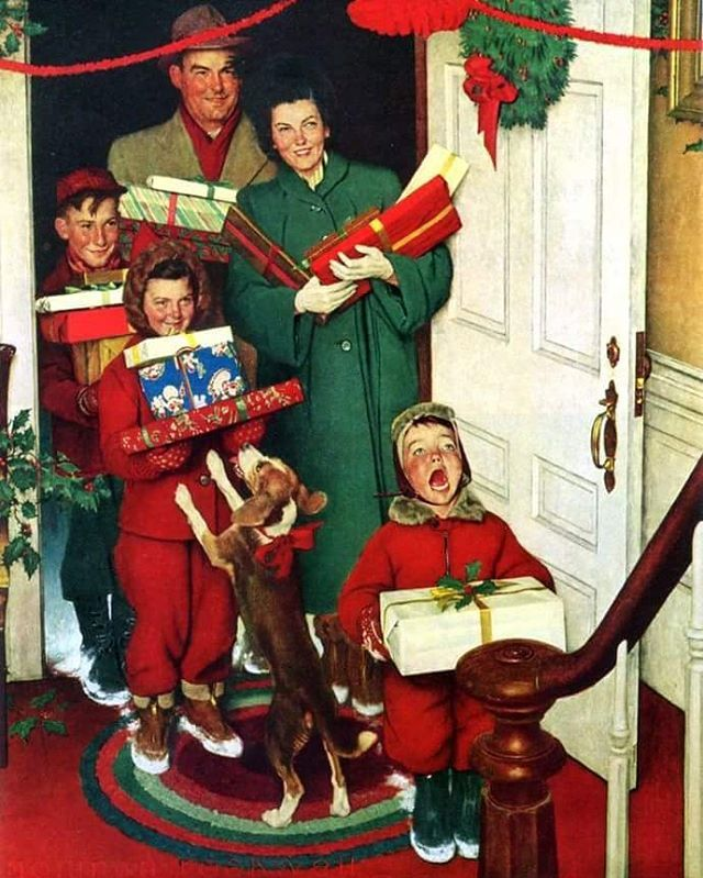 Если вам не хватает оптимизма и чувства праздника, попробуйте полистать галерею работ Нормана Роквелла – это повышает настроение! . Художник обрисовывает простые жизненные ситуации так, что они кажутся забавными или волшебными.  Самые знаменитые поклонники мастера – режиссеры Джордж Лукас и Стивен Спилберг. Однажды они даже «сбрасывались» шедеврами из частных коллекций для публичной выставки мэтра под названием Telling Stories. . Всем, кто заявляет, будто Роквелл – это попса, а не искусство…