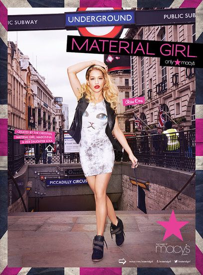 Material Girl Fall 2013 Rita Ora Photo courtesy of Material Girl