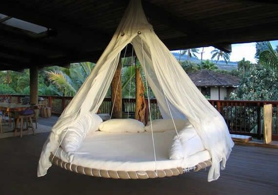 Trampoline hammock. Someone get me this STAT.