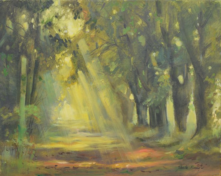 Prześwit 40x50 - oil on canvas