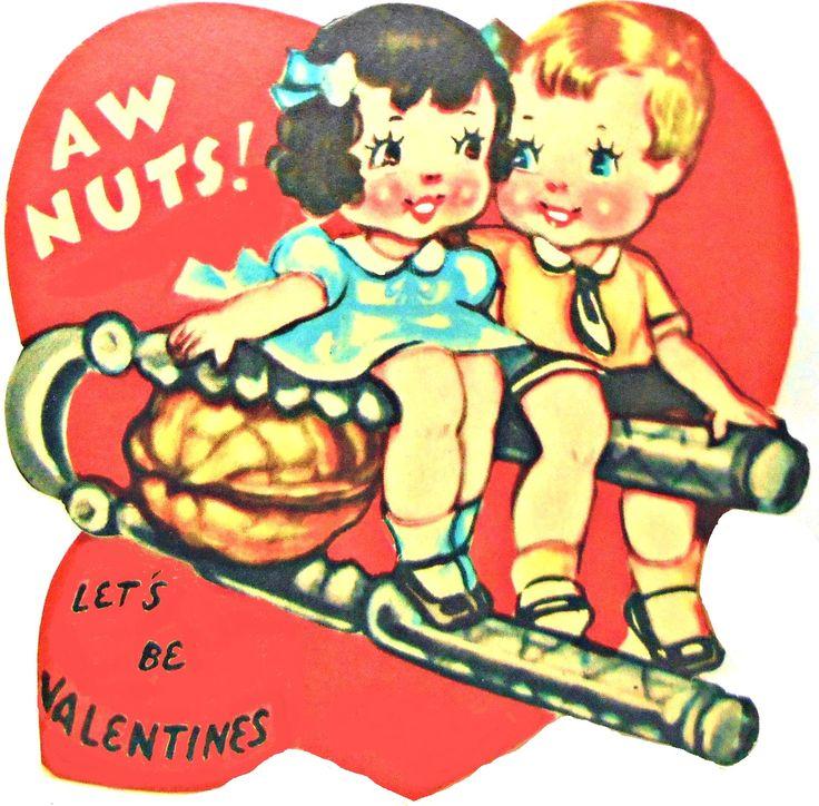 Nut cracker -- 1940s Valentine