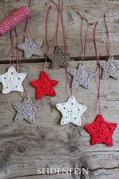 tyffany seidenfeins Blog vom sch nen Landleben     Sternchen Anh nger  DIY  crochet some stars