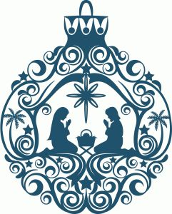Silhouette Online Store - View Design #53103: nativity ornament