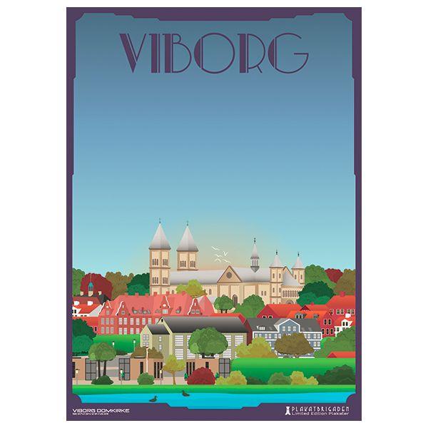Limited edition plakat af Viborg Domkirke