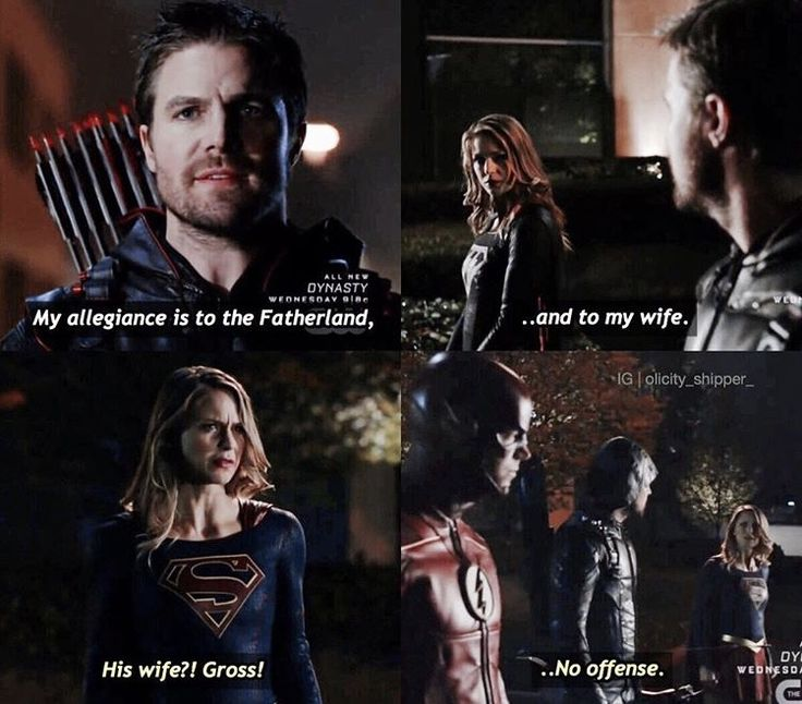 Yeah that was a bit gross Kara and Oliver .. #Best Crossover Ever