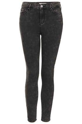 MOTO Black Mottle Leigh Jeans