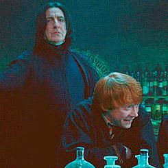 I love how Snape isn't even looking at him