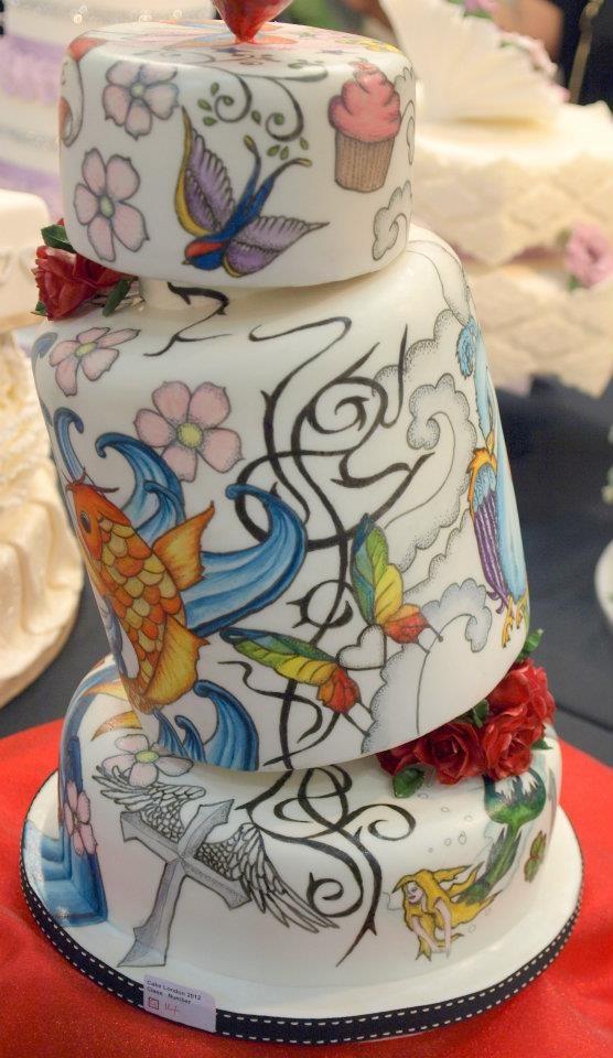 Hand Painted Cake Edible Art Tattoo Flash Love This