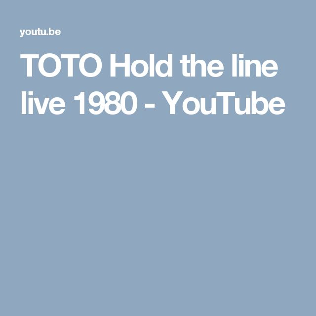 TOTO Hold the line live 1980 - YouTube