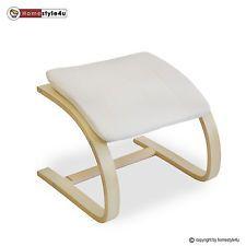 Hocker Fußhocker Sitzhocker natur für Schwingsessel Sessel Stuhl Freischwinger