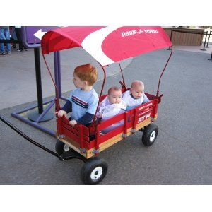 """Radio Flyer wagons with canopies - great for """"kid transport"""""""