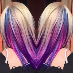 Trick Your Conservative Office With This Underlights Rainbow Hair Trend