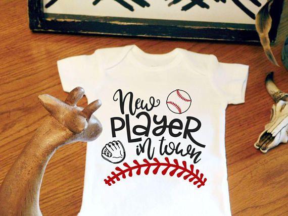 Baseball number bodysuit baseball birthday shirt baseball bodysuit boy first birthday baseball baby,slugger baseball fan baby boy gift