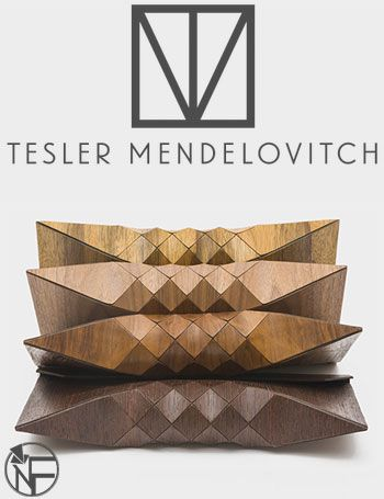 Tesler Mendelovitch Unique Wooden Clutch
