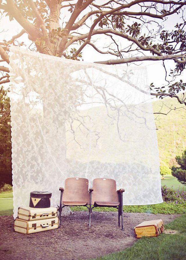 Look #vintage pour ce #photobooth en extérieur