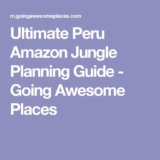 Ultimate Peru Amazon Jungle Planning Guide - Going Awesome Places