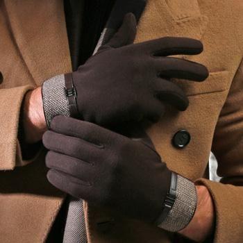 2017 winter men gloves touch screen sheepskin gloves