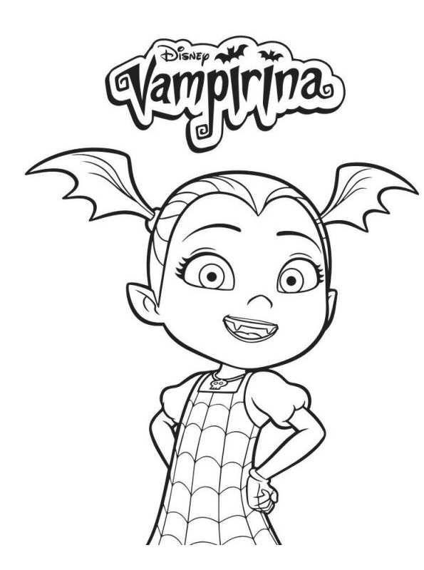 4 Coloring Pages Of Vampirina On Kids N Funcouk Op Kids N