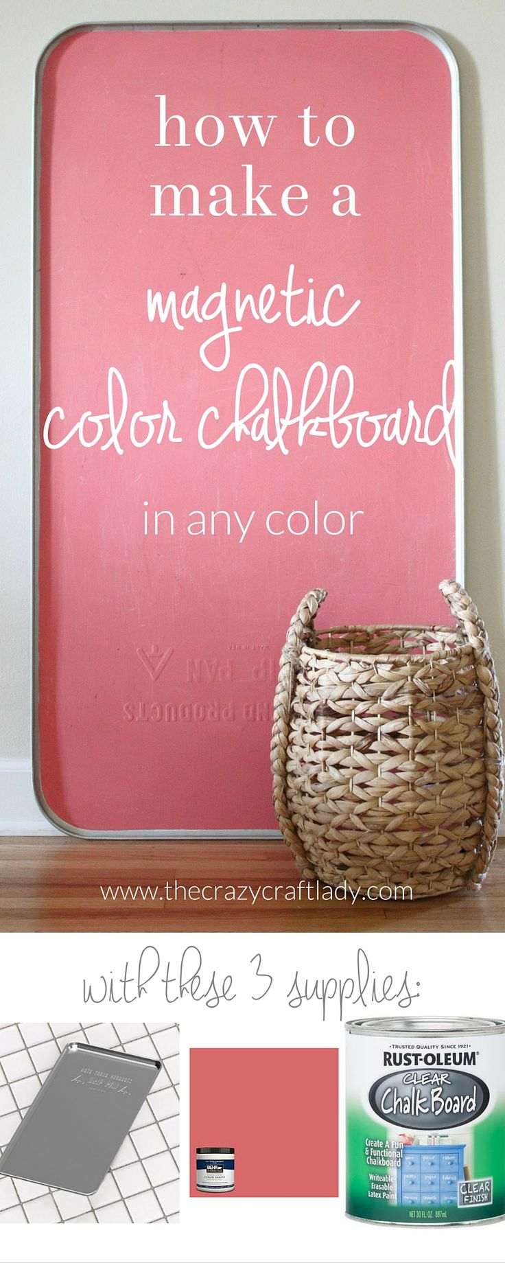 How to make a magnetic color chalkboard - with colored chalkboard paint in any color