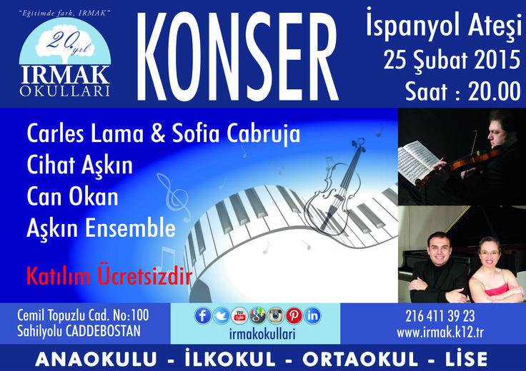 Avrupa'nın en çok tanınan Piyano ikilisi CARLES LAMA&SOFIA CABRUJA ve ünlü keman virtüözlerinden CİHAT AŞKIN okulumuza geldi.