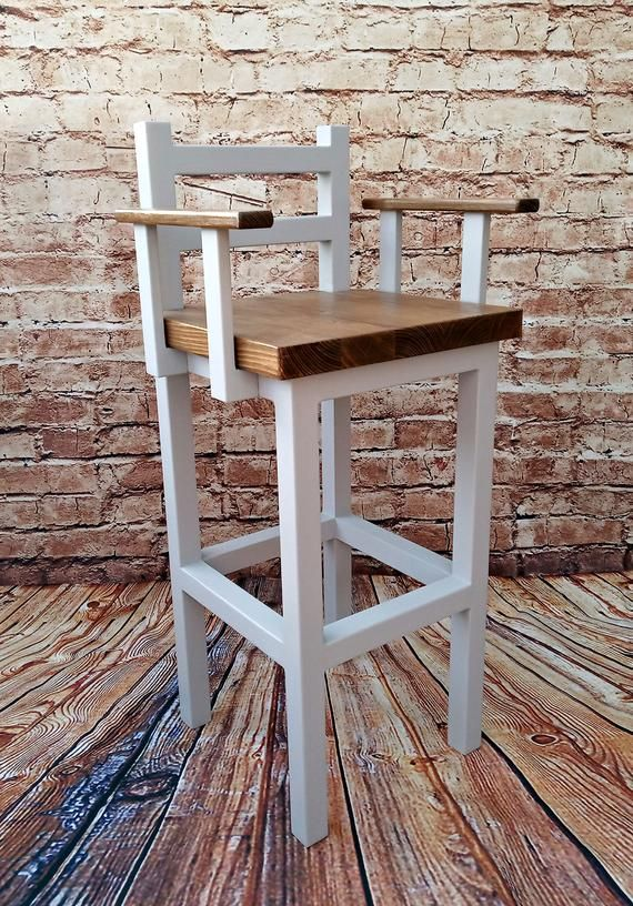 Wooden Bar Stool With Arms Breakfast Kitchen Bar High Chair Etsy Wooden Bar Stools Wood Bar Stools Bar Stools