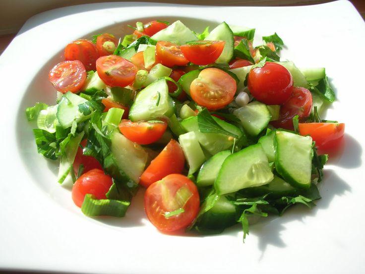 Shepherd's Salad of tomato and cucumbers – Coban Salata | Ozlem's Turkish Table