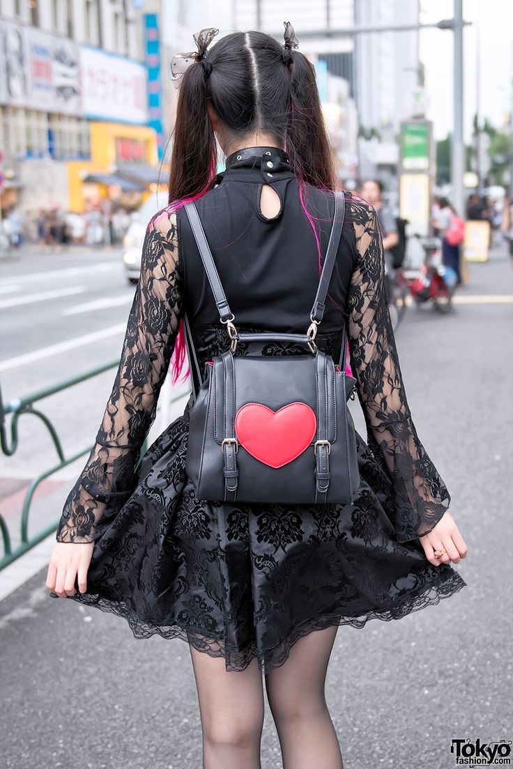 "tokyo-fashion: "" 20-year-old Miki on the street in Harajuku wearing a lace top…"