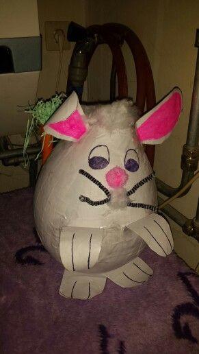 Zelfgemaakte konijn met wortel als gedicht