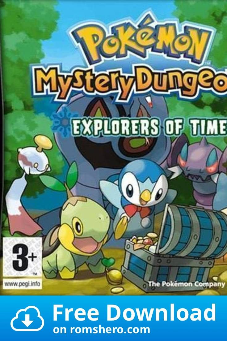 Download Pokemon Mystery Dungeon Explorers Of Time Nintendo Ds Nds Rom Nintendo Ds Pokemon Nds