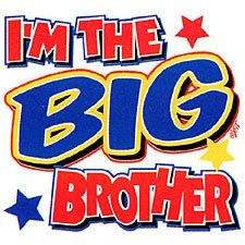 Im The Big Brother YOUTH T-shirt Funny Kids T-shirts Small (6-8) Gray