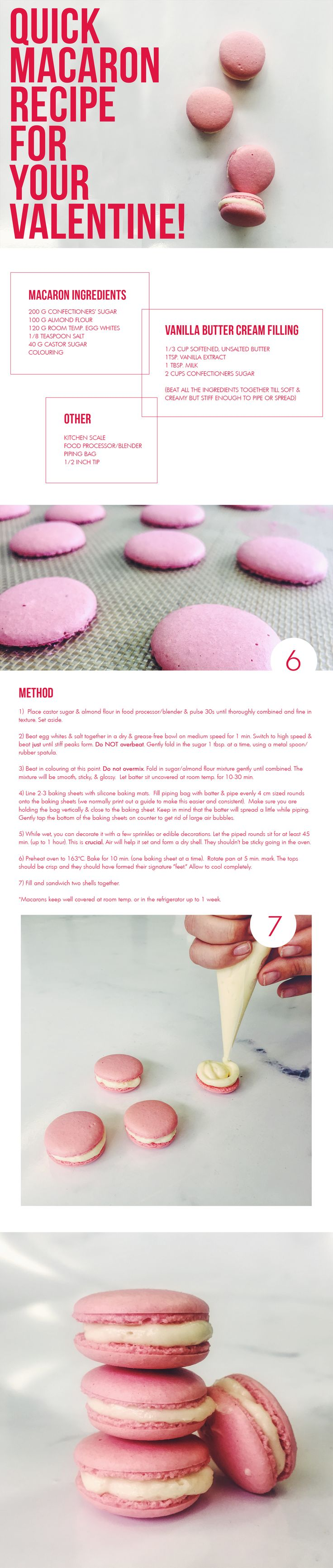 pink macarons for Valentines Day