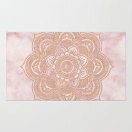 Rose gold mandala - pink marbl...