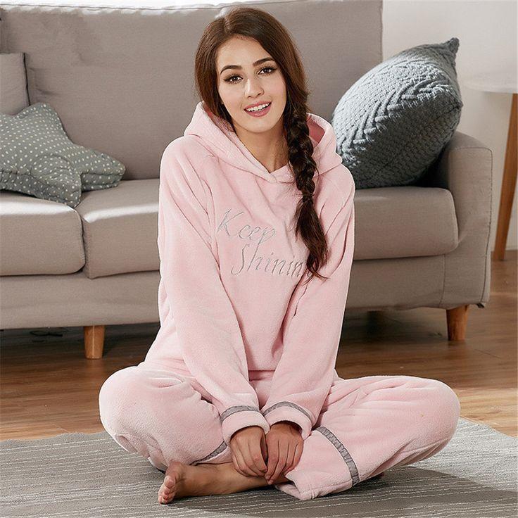 Flannel Pigiama Pyjamas Women Winter Pajamas For Women Pajama Sets Pijama Feminino Pijama Mujer Home Wear Leisure Wear