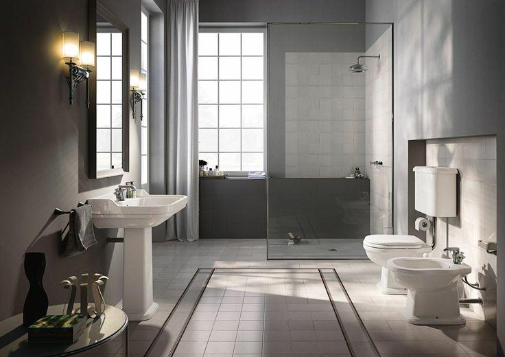 Wc-istuin, takasäiliöllinen tai yläsäiliöllinen - Domus Classican verkkokaupasta / Classical toilet seat with an elevated cistern from Domus Classica