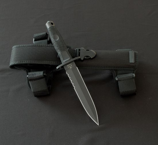 Extrema Ratio knives, combat knife. Adra operativo. Black finish MIL-C-13 924.