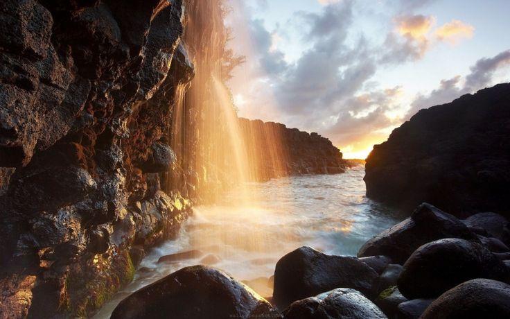 Водопады острова Кауаи, Гавайи