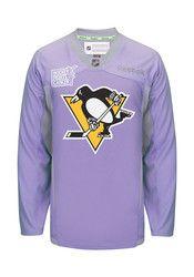 Pitt Penguins Mens Purple Hockey Fights Cancer Jersey