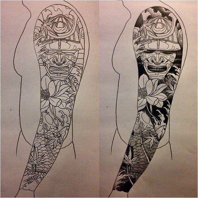#Tattoo I Like Horimono. Sketch For A Japanese Sleeve