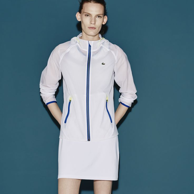 CONTRAST HARDWARE Lacoste SPORT Tennis hooded jacket in water-resistant canvas with contrasting accents   LACOSTE