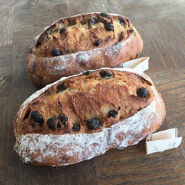 レーズンパン2種  レシピも載せ始めました。 https://aruch.amebaownd.com/  #aruch #アルーチパン教室 #ハード系 #高加水 #トースター焼き #自家製酵母 #発酵種 #bread #pain #面包 #빵 #brort