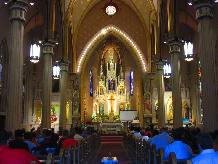 Interior of San Fernando Cathedral in San Antonio, Texas